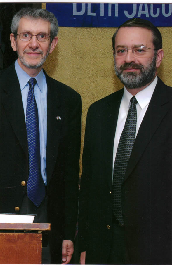Council Executive Director, David Edelstein meets with Michael Miller, Executive Vice President of the Jewish Community Relations Council of New York.